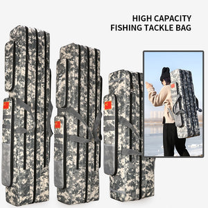 2/3 Layer 80/90/100/110/120/125cm Fishing Bag Oxford Cloth Fishing Rod Reel Bag Fishing Tackle Storage Bag