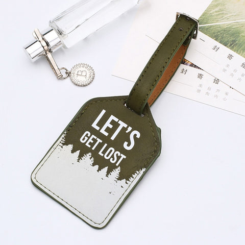 Leather Suitcase Luggage Tag Label