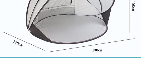 Image of 2-3 People Cuick Opening And Quick Opening Sunshade Sunscreen Automatic Outdoor Beach Tent