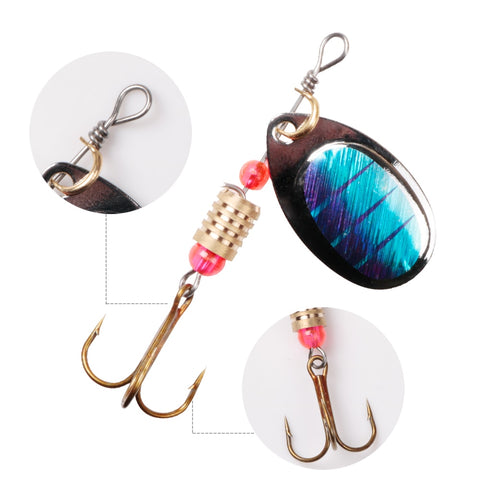 Image of Fishing Metal Spinner Set 3g-7g Hard Artificial Bait With Metal Lure