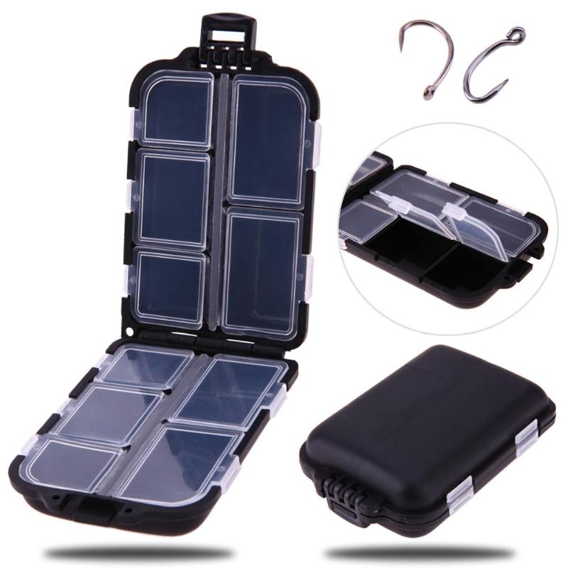 10 Compartments Mini Fishing Tackle Box For Your Fishing Lures, Hooks and Baits