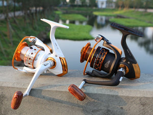 Metal Coil Spinning Fishing Reel 12BB + 1 Bearing Balls 500-9000 Series