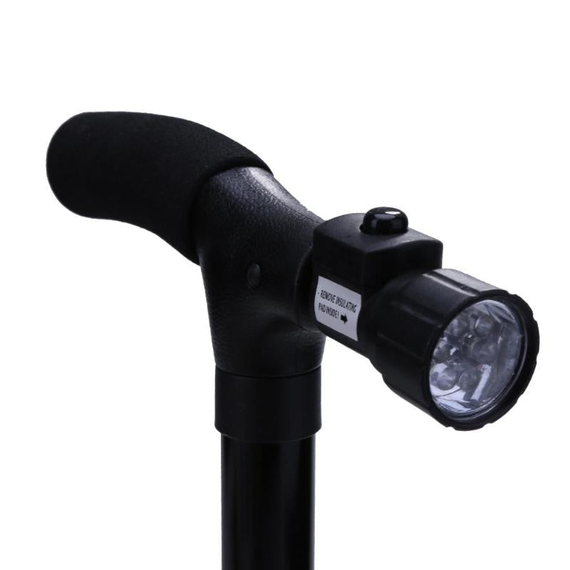 Folding Telescopic Hiking and Trekking Walking Stick With LED Light