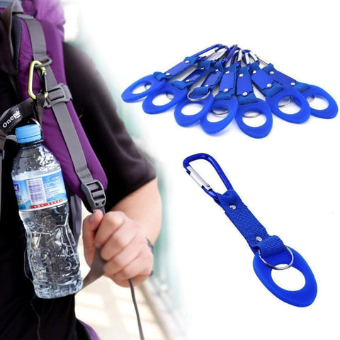 Image of Sports Outdoor Kettle Buckle Carabiner Water Bottle Holder For Camping Hiking