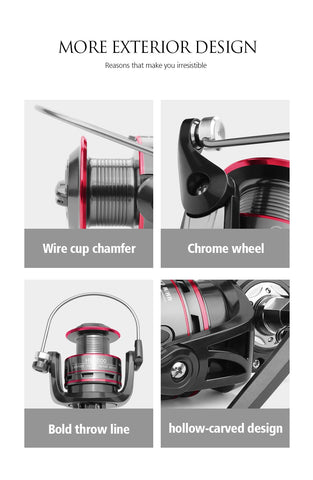 Image of Fishing Reel All Metal Spool Spinning Reel 8KG Max Drag Stainless Steel Handle Line Spool Saltwater Fishing Accessories