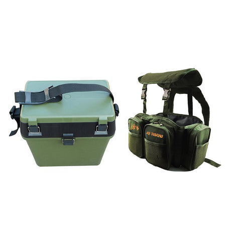 Image of Multi-purpose fishing box backpack Nylon road sub-bag Fishing leisure bag