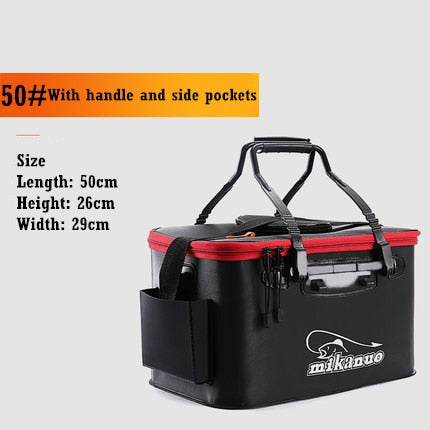 Portable Folding Live Fishing Box Tank Bucket Camping Outdoor Fishing Bag Tackle