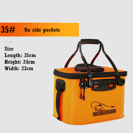 Image of Portable Folding Live Fishing Box Tank Bucket Camping Outdoor Fishing Bag Tackle
