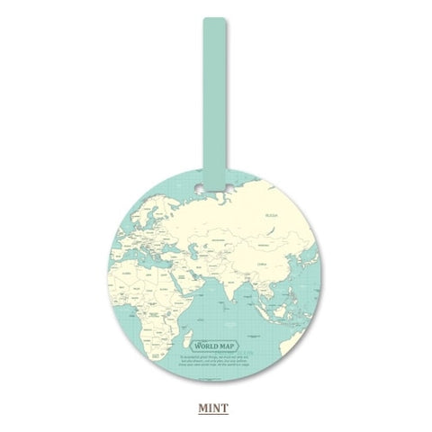 World Map Luggage Tag Travel Accessories