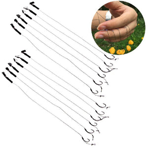 6pcs Barbless Carp Fishing Hook, Tackle and Hair Rigs Size 6 8 10
