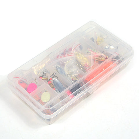 Image of 101pcs Lure Kit Set Including Spinner, Minnow, Popper, Soft and Hard Spoon, Crank Baits, Fishing Hooks