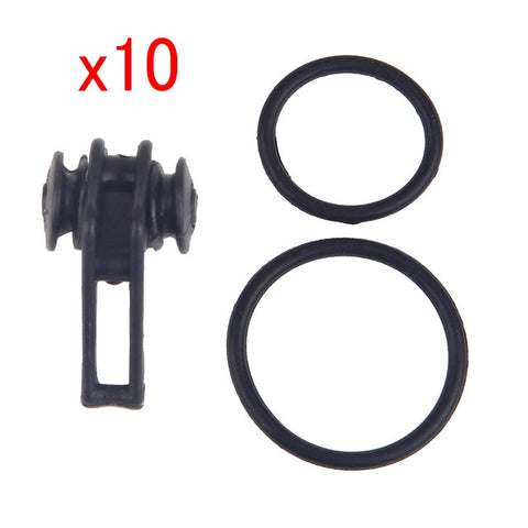 Image of 10pcs Plastic Fishing Lure and Hook Holder for Fishing Pole