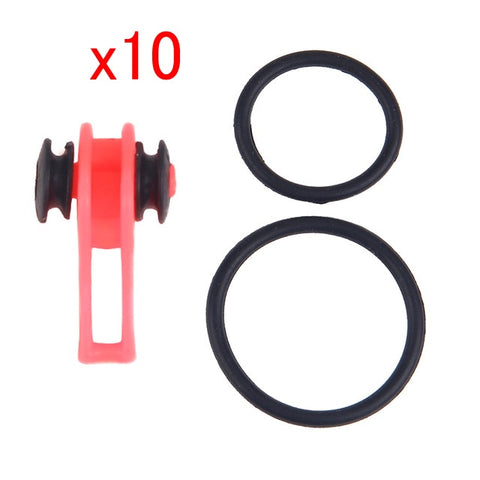 10pcs Plastic Fishing Lure and Hook Holder for Fishing Pole