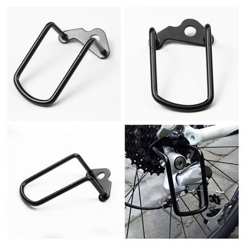1Pcs Steel Black Bicycle Rear Gear Derailleur Guard
