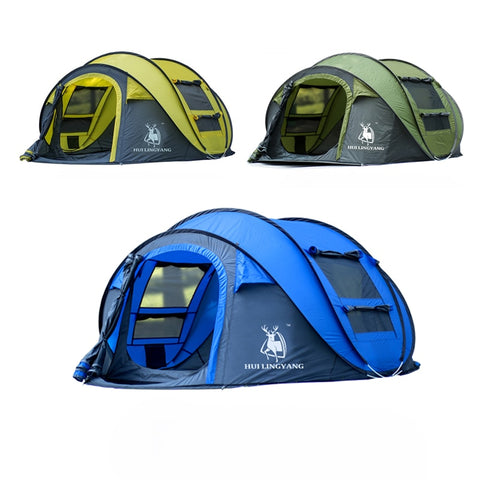 Image of 3-4 Person Automatic Quick Open Pop Up Camping Tent