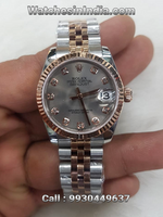 Rolex Datejust Silver Dial Copy Watch for Women