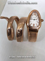 Bvlgari Serpenti Tubogas White dial full Rose Gold Double Spiral Watch for Womens