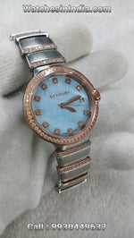 Bvlgari Lvcea ICE Blue Pearl finish Dial Watch For Womens