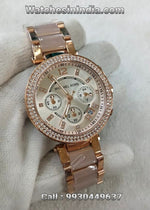 Michael Kors Parker Pink Dial Watch for Womens