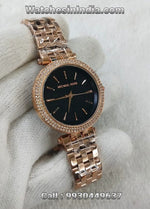 Michael Kors Darci Crystal Bezel First Copy Watch for Womens
