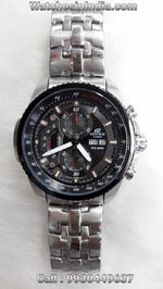 Casio Edifice ED436 Tachymeter Chronograph Black Dial Men's Watch - (EF-558D-1AVDF)