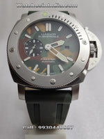 Luminor Panerai Submersible Green Camo Swiss ETA Automatic Watch