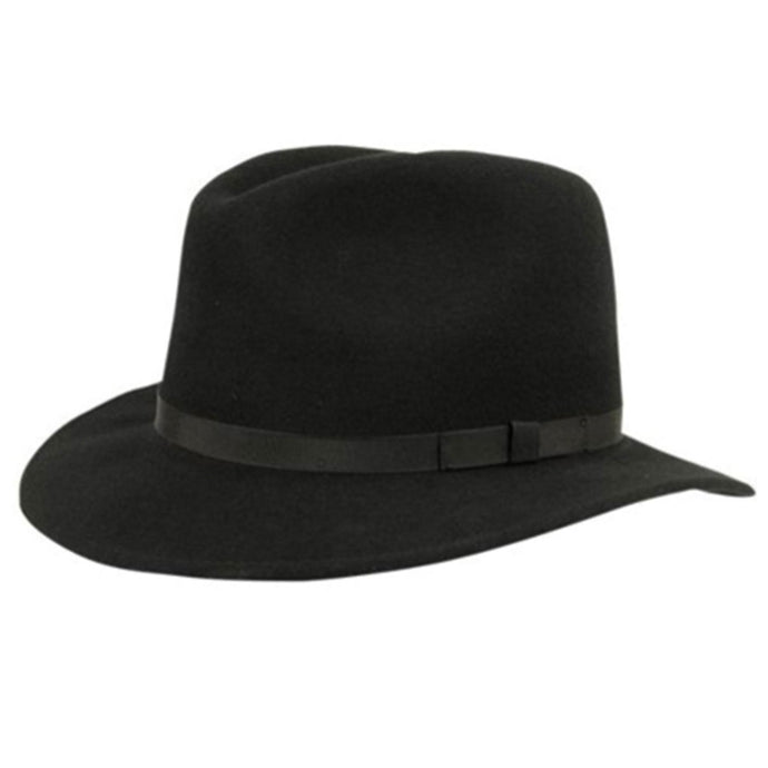 wilton black fedora hat