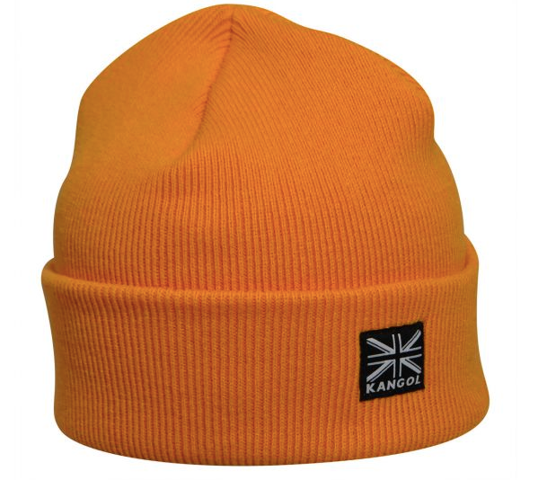 mens hat beanie orange