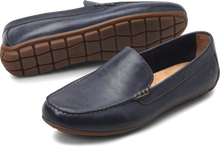 Load image into Gallery viewer, mens navy blue loafers