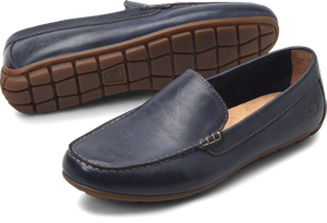 mens navy blue loafers