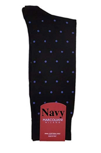 Marcoliani Milano Men's Mid-Calf Cotton Dot Luxury Socks | Various Colors