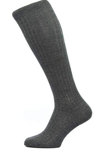 Pantherella Laburnum Over the Calf Wool Socks | Charcoal (Extra Large)