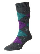 Load image into Gallery viewer, Pantherella Turnmill Cotton Mid Calf Men's Argyle Socks | Various Colors