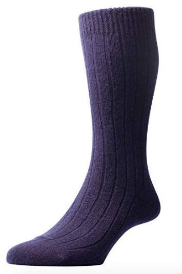 Pantherella Waddington Men's Luxury Cashmere Socks | Navy