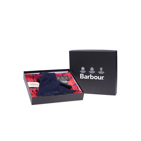Barbour Men's Scarf And Glove Gift Box