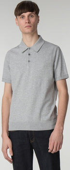 Short Sleeve Knitted Polo - Men's