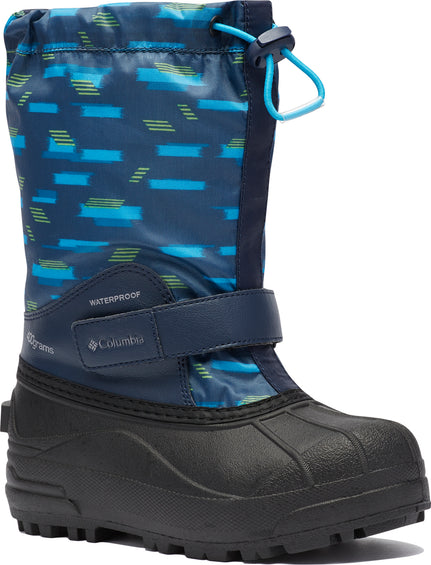 Columbia Powderbug Forty Print Waterproof Boots - Big Kids