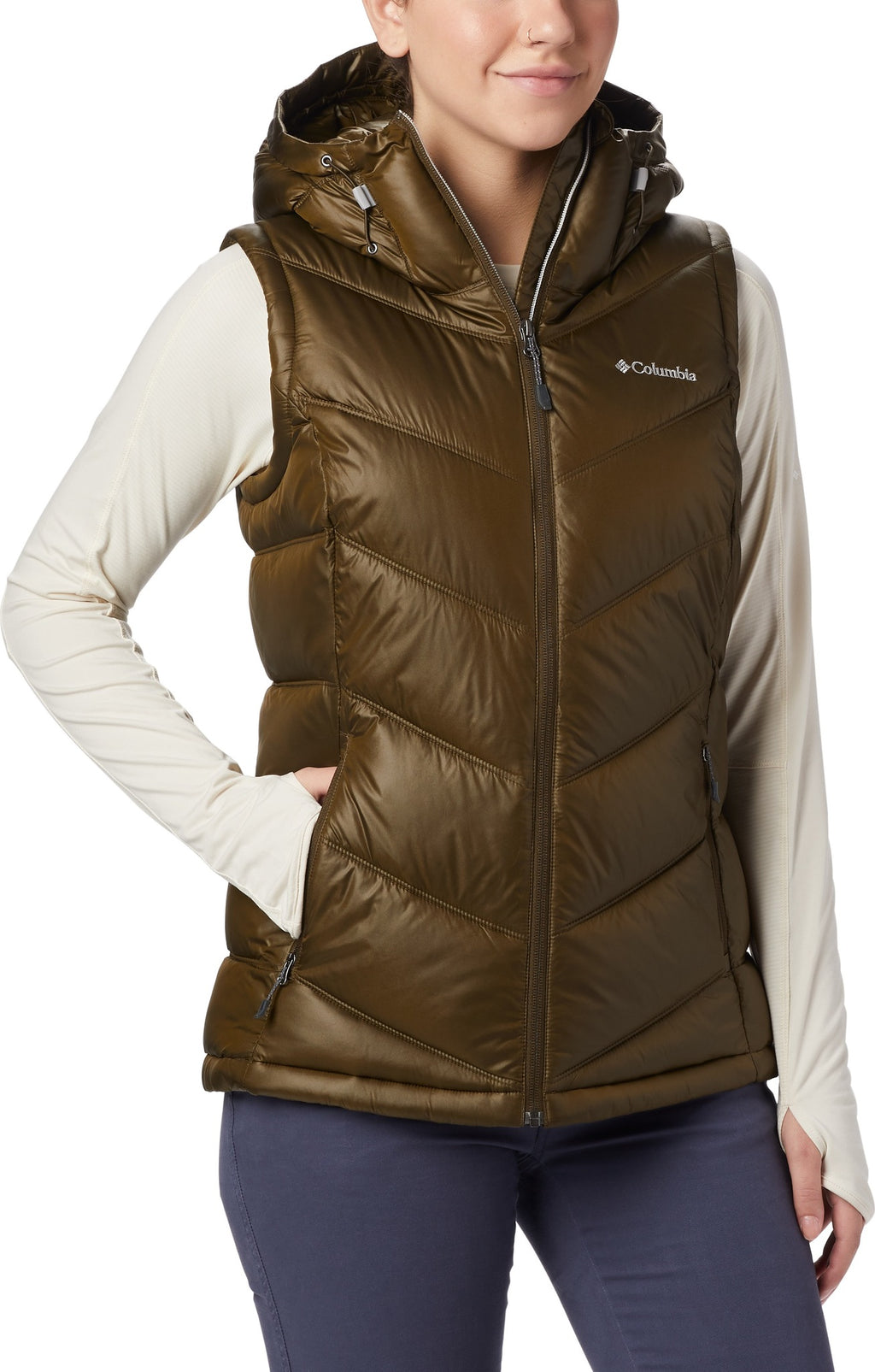 Image result for pike lake hooded vest green womens