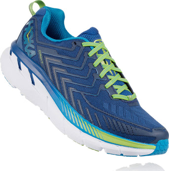 49bd93d4398c9 Loading spinner Hoka One One Souliers de course Clifton 4 - Homme True Blue  - Jasmine Green