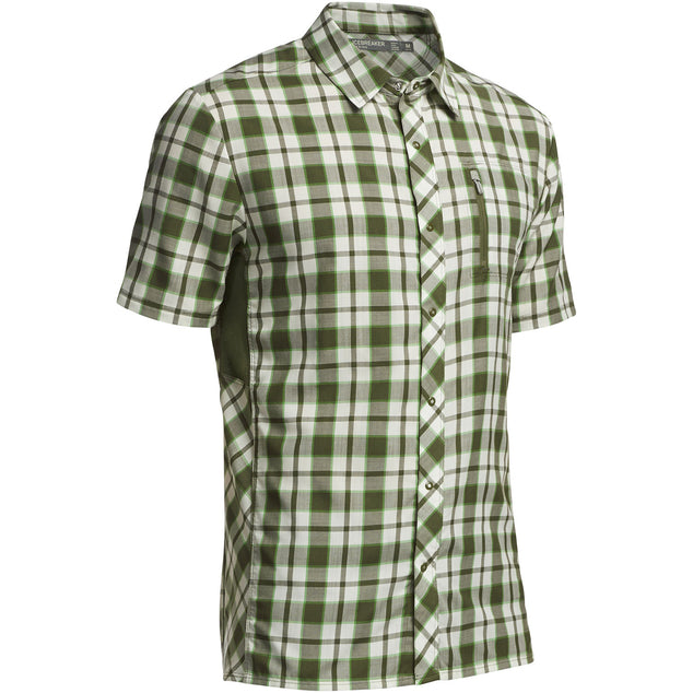 Icebreaker Men's Compass Short Sleeve Shirt Plaid