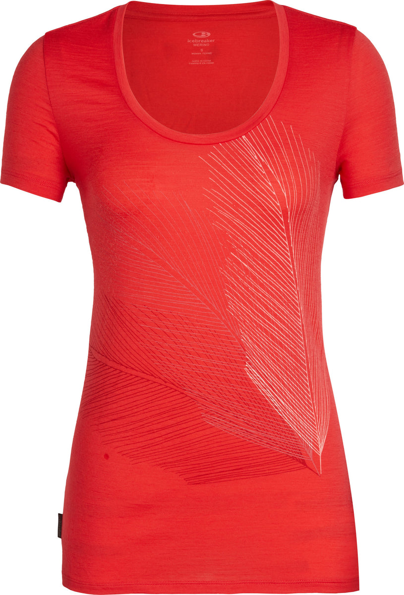 Icebreaker Tech Lite Scoop Plume T-shirt femme manches courtes-Ember Toutes Tailles