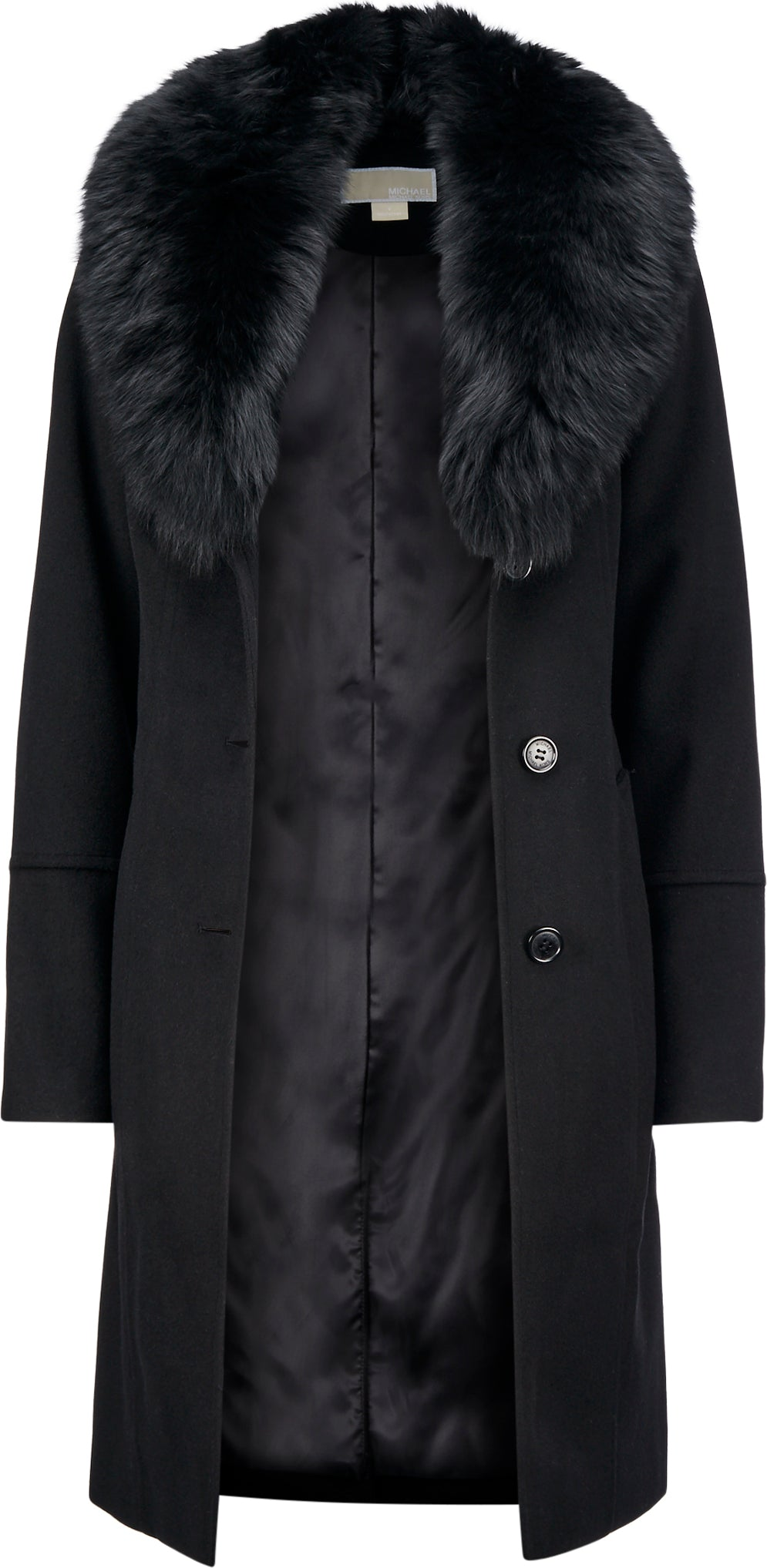 new collection search for original complimentary shipping Michael Kors Wool-Blend Fur-Collar Coat - Women's