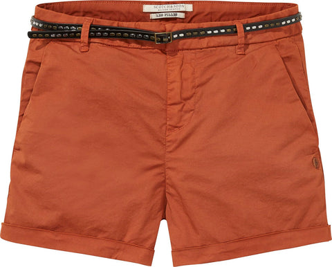 Maison Scotch Stretch Pima Cotton Chino Shorts - Women's