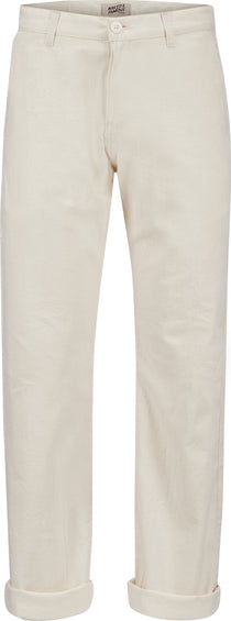 Naked & Famous Straight Chino - Bone Rinsed Oxford - Men's