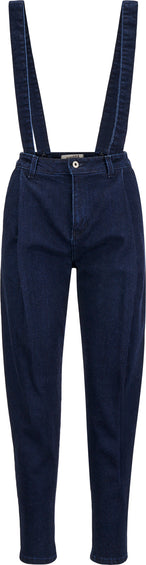 Naked & Famous Pleated Trousers - Dark Indigo Stretch Denim - Women's