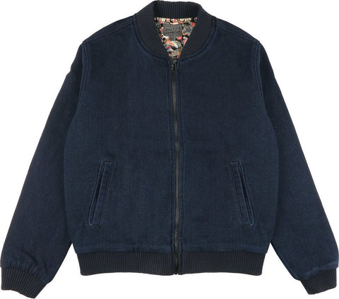 Naked & Famous Bomber Jacket - Indigo Basketweave - Women's