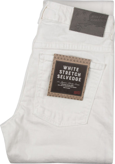 Naked & Famous Boyfriend - White Stretch Selvedge - Women's