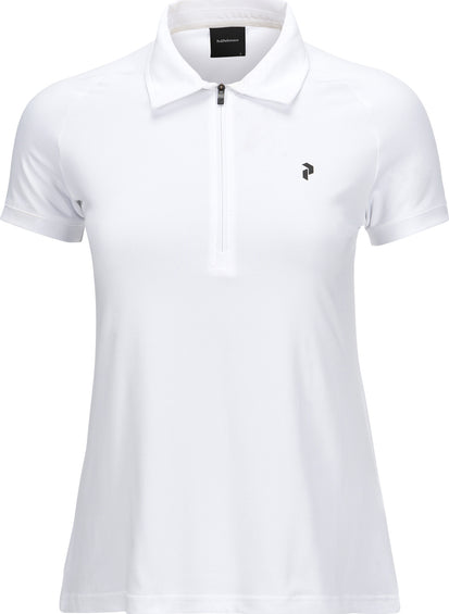 Peak Performance Half-Zipped Shortsleeved Golf Top - Women's
