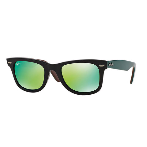 Ray-Ban Original Wayfarer Black - Green Flash Lens
