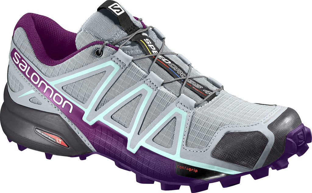 Salomon Speedcross 4 Trail Running Shoes Women's Quarry Acai Fair Aqua